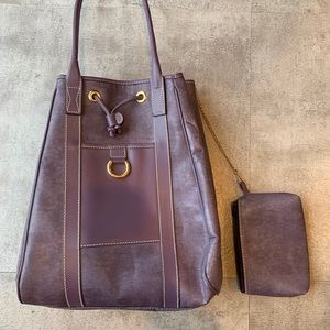 Lancel Purple Bag